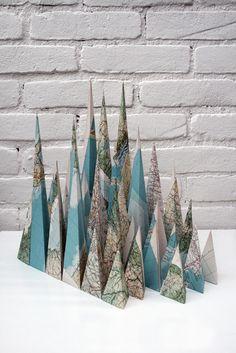 montagnes de cartes