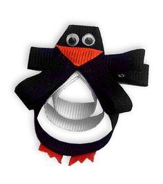 Penguin hair bow