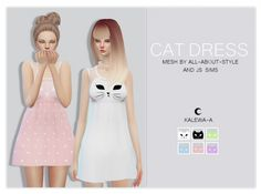 Cat Dress at Kalewa-a via Sims 4 Updates