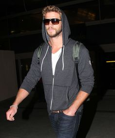 Liam Hemsworth - I'm gonna forgive you for wearing shades at night just because you're hot as hell.