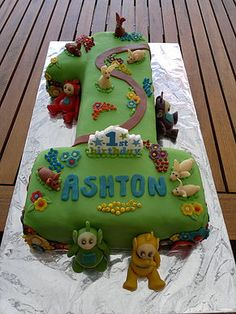 teletubbie cake ideas - Google Search                                                                                                                                                                                 More 1st Birthday Cakes, Baby 1st Birthday, First Birthday Parties, First Birthdays, Teletubbies Birthday Cake, Teletubbies Cake, Party Cakes, Party Party, Party Ideas