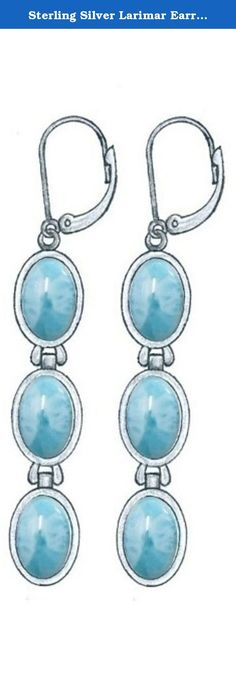 Sterling Silver Larimar Earrings (BTS-NEA3059/LR/R). Gorgeous sterling silver larimar earrings from our very special new collection. 30 day satisfaction guarantee!.