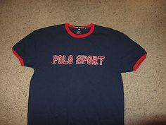 Vintage Polo Sport by Ralph Lauren Spellout PWing T-Shirt Retro Rare Small  S SM 08ba023f855