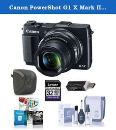 Canon PowerShot G1 X Mark II Digital Camera, 12.8MP, 5x Optical Zoom - Bundle with 32 GB Class 10 SDHC Card, Camera Case, Cleaning Kit, Software Package, Card Reader. The Canon PowerShot G1 X Mark II raises performance and quality to new heights in a compact, brilliant design. Featuring a huge, 1.5-inch 12.8 Megapixel High-Sensitivity CMOS sensor, a powerful DIGIC 6 Image Processor and an all-new 5x wide-angle optical zoom lens with Optical Image Stabilizer and a circular, 9-blade…