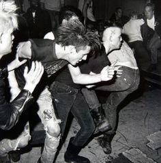 """80s punk """"slam"""" pit."""