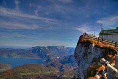 Schafbergspitze. (Schafberg is a tourist attraction located in Ort, Austria)