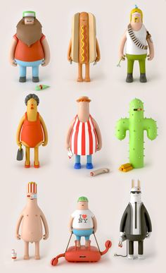 Hello lovely creative types. We love designer toys a lot, so we made this series of characters. If you like them or even have a favorite one, we would love to know about it. You can say hello and keep up to date with our work over at www.yumyumlondon.com