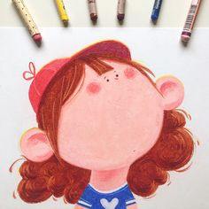 Big Face Draw this in your style on Behance Oil Pastel Colours, Oil Pastel Art, Oil Pastels, Art Style Challenge, Drawing Challenge, Pastel Gras, Cool Paper Crafts, Art Prompts, Principles Of Art