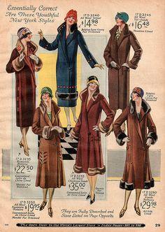 1925 Sears catalog. Vintage 1920s coats