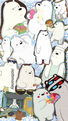Ice Bear We Bare Bears collage iPhone wallpaper