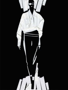 Ferre/Fashion Illustration/Masking Tape/Carlos Aponte
