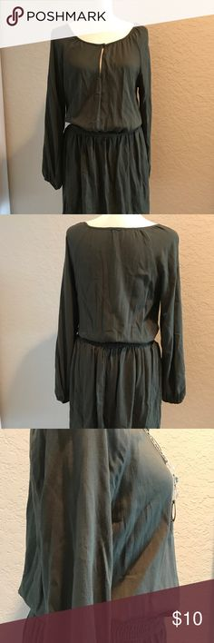 Charlotte Russe Olive Green Dress This cute olive green Charlotte Russe dress can be worn for a casual day out or dressed up with accessories for work or a dinner date. (The jewelry in the pictures are not included, but can be purchased separately from my closet). Charlotte Russe Dresses Midi