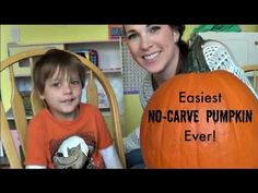 Easiest No-Carve Pumpkin Ever! - YouTube