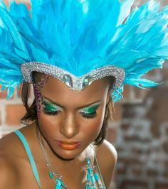 Jamaica Carnival make-up preview 2014 Makeup Artist:- Sasha Bowie(me) Photographer: Paul G.Slowley