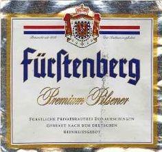 Cerveja Fürstenberg Premium Pilsner, estilo German Pilsner, produzida por Fürstenberg, Alemanha. 4.8% ABV de álcool.