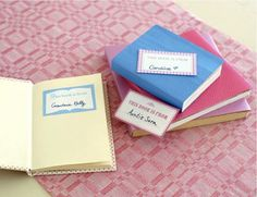 This is a cute idea for wedding favors...maybe buy a bunch of classics from used bookstores