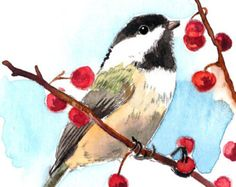 ACEO Limited Edition  1/25 - A Story of chickadee