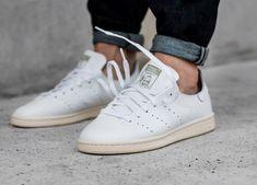 acheter basket Adidas Stan Smith Leather Sock Vintage 'White' (1)