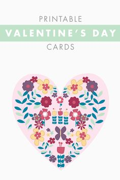 #DIY printable Valentine's day cards! with @hanna prints!