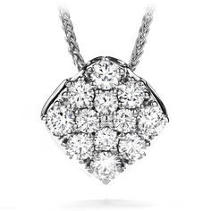 Silk Pave Diamond Shape Pendant Necklace #myHOFwishlist