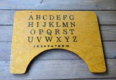 Vintage High Chair Tray with Alphabet and Numbers by PanchosPorch, $19.50