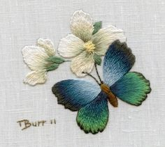 Wonderful Ribbon Embroidery Flowers by Hand Ideas. Enchanting Ribbon Embroidery Flowers by Hand Ideas. Hardanger Embroidery, Paper Embroidery, Japanese Embroidery, Hand Embroidery Stitches, Learn Embroidery, Silk Ribbon Embroidery, Hand Embroidery Designs, Embroidery Techniques, Embroidery Kits
