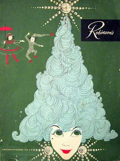 Robinson's Christmas Gift Catalog 1958. Art by Hilary Knight. Downtown, Beverly Hills, Palm Springs and Pasadena.