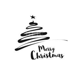 #Line #Art #Christmas #Tree #Greetings #Card
