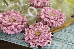 Crochet Layered Ruffle Flowerk, step-by-step tutorial by Craft Passion