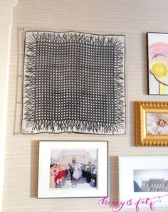 DIY Custom Lucite Frame with Hardware Store Supplies. Do this on the skinny wall between the living room and the dining room for your new 2014 calendar.