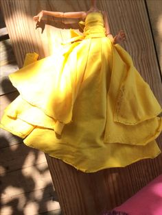 HOMEMADE Beauty and The beast Emma waston dress for dolls