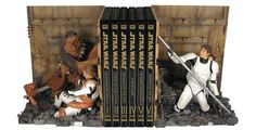 The geek in me laughed about these Star Wars Trash Compactor book ends..