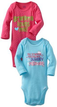 Gerber Baby-Girls Newborn 2 Pack Bodysuits, Pink/Blue, « Clothing Impulse