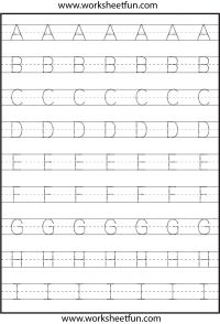 Worksheets Uppercase Tracing letter tracing worksheets for kindergarten capital letters uppercase 3 worksheets