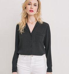Koszula damska czarny nadruk - Promod