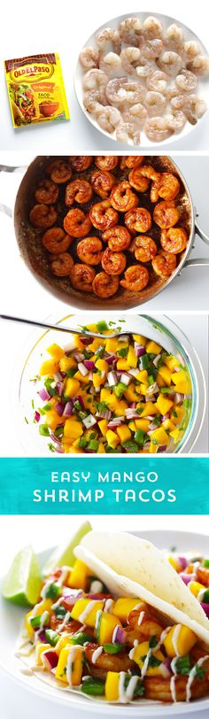 Ready for an easy meal idea that tastes just like summer? Try these Easy Mango Shrimp Tacos from @gimmesomeoven! The shrimp are packed with flavor and cook up quickly so you're not tied to the stove inside - and the salsa is simple! They're ready to eat in just 20 minutes!