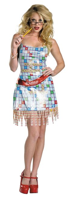 Scrabble Dress/Costume . . . Perfect for me (35 years ago)!