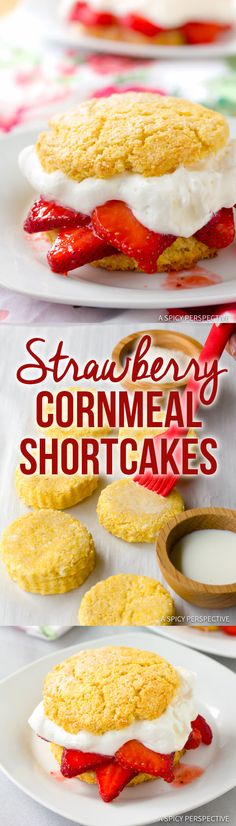 Fresh Rustic Strawberry Shortcakes Recipe   ASpicyPerspective.com
