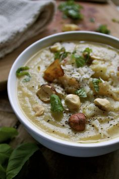 Roasted Sunchoke & Cauliflower Soup | In Pursuit of More