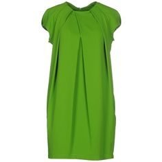 Plein Sud Par Fayҫal Amor Short Dress ($225) ❤ liked on Polyvore featuring dresses, acid green, pocket dress, plein sud dress, short green dress, short dresses and plein sud