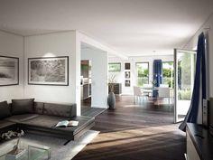 Musterhaus inneneinrichtung wohnzimmer  Wohnbereich im Musterhaus NaturDesign Köln von Baufritz • Mit ...
