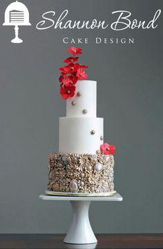 Shannon Bond Cake Design is a home-based cake studio providing delicious & beautiful, custom cakes and wedding cakes for the Olathe and Kansas City areas. Bling Wedding Cakes, Bling Cakes, Wedding Cake Prices, Luxury Wedding Cake, Wedding Cake Designs, Fancy Cakes, Beautiful Wedding Cakes, Gorgeous Cakes, Pretty Cakes