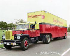 Interesting Photos, Cool Photos, Freightliner Trucks, Badge Creator, Antique Trucks, Black Backgrounds, River, Semi Trucks, Tags