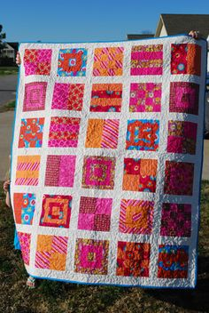 Pink and Orange Quilt