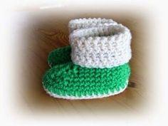 Baby slofjes.                          Afkortingen:      ... Crochet Baby Toys, Knit Crochet, Crochet Hats, Baby Boots, Knitting For Kids, Knit Patterns, Baby Kids, Children, Projects