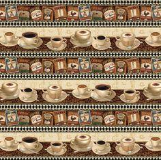 South Seas Coffee Break Coffee Cup Stripe by Loriscountryfabrics, $9.25