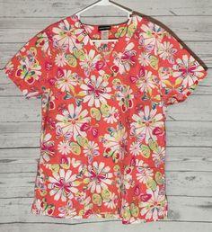 Scrub Studio Nursing Medical Scrub Top Medium Butterflies Floral Print (M18)  | eBay