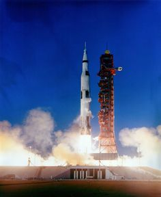 December 21, 1968: Apollo 8 launches on the first mission to take humans to orbit the Moon and return to Earth. Source: Apollo Lunar Surface Journal/Research: J.L. Pickering/Credit: NASA (S69-15546)