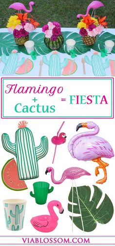 Celebrate Cinco de Mayo with a Cactus and Flamingo Fiesta! Perfect for a Summer Flamingo Party! Our Cactus Party Decorations are on Trend, so check them out!