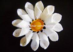 Flores Margaridas Em Crochê - Edinir-Crochê